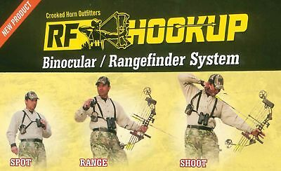 Crooked Horn RF-201 Binocular/Rangefinder Harness Bowhunter's System, Cam... New