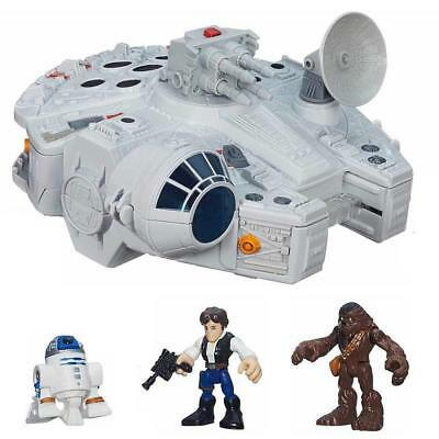 NEW Playskool Star Wars Galactic Heroes Millennium Falcon & Figures Cannon Toy