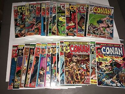 Connan the Barbarian lot of(25) HIGH GRADE 2-26 1st Red Sonja. guides at $800.00