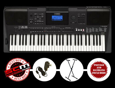 YAMAHA PSRE453 61 Note Portable Keyboard & Adaptor & Height Adjustable Stand NEW
