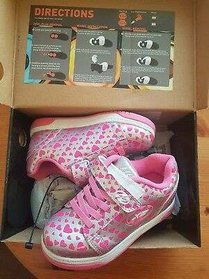 girls sidewalk heelys x2 wheel size UK kids 13 Great cond
