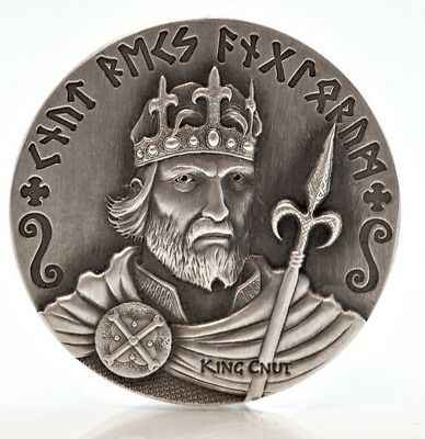 2015 $2 Niue Vikings - King Cnut - 2 oz Silver High Relief Coin Scottsdale Mint