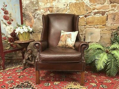 Vintage Chesterfield Leather MORAN Armchair-Chair~Wingback