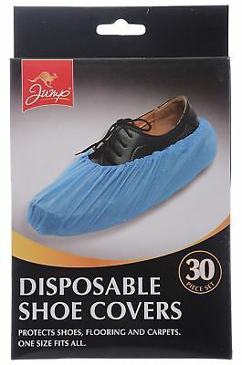 30 Disposable Plastic Overshoes Shoes Cover Carpet Floor Shoe Protector Hospital