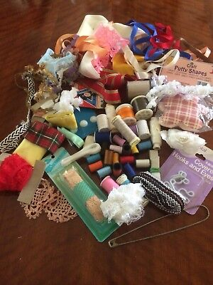 Bulk Craft Sewing Items From Grandmas Scrap Box