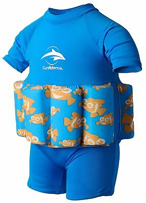 Konfidence Float Suit Clownfish Blue 1-2 Years New