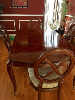 Dining Table Thomasville Mahogany Bogart W Leafs