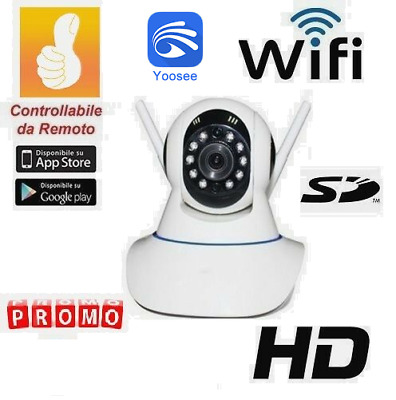 Telecamera Ip-Cam Onvif Wireless E  Lan Motorizzata Internet