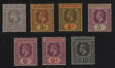 NORTHERN NIGERIA #42-48 Mint Hinged KING GEORGE V SCV $24.00 Nice Centering