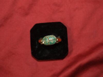 Ancient Egyptian Scarab Made Into A Ring