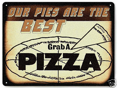 New York Pizza Parlor shop METAL sign / vintage restaurant deli diner ART 070