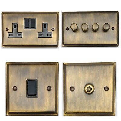 Deco Antique Bronze DABB Light Switches, Plug Sockets, Dimmers, Cooker, TV, Fuse