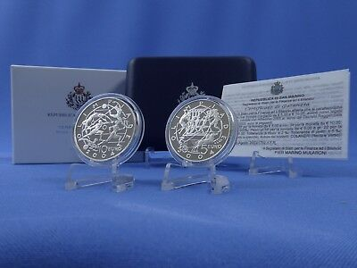 San Marino 5+10 Euro 2003,a.d.Olympiade 2004 Athen, Silber *PP/Proof* (6432 )