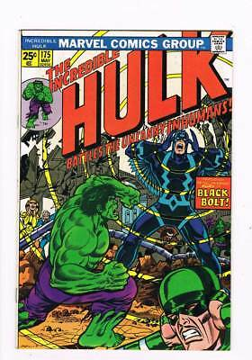 Incredible Hulk # 175  To Battle the Uncanny Inhumans ! grade 8.5 scarce book !!