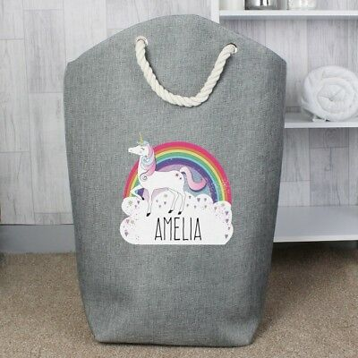 Gorgeous Personalised Laundry Bag, Washing Bag, Toy Storage, Unicorn, Sailboat