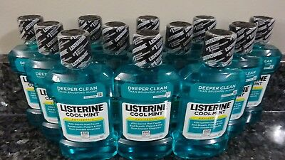 12 LISTERINE Cool Mint Flavor Deep Clean Antiseptic Mouthwash 8.5 FL oz each NEW