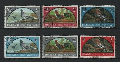 Sharjah & Dependencies 1965 Air. Birds *full Set Used/cto*