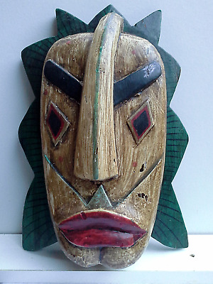 WOODEN MASK - Hand Carved - 2