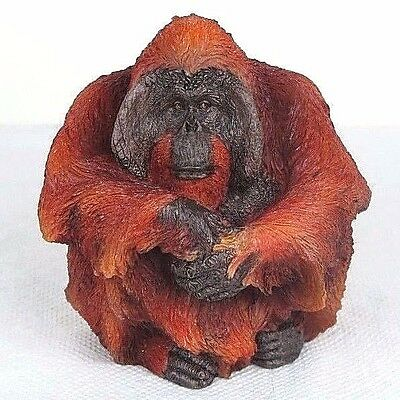 "Large Male Orangutan Ape - Detailed Figurine Miniature 4.5""H New in Box"