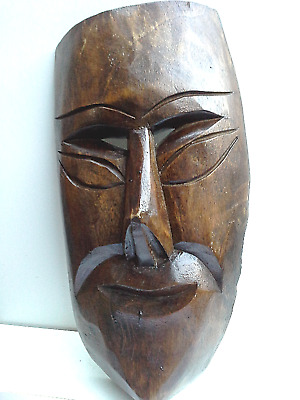 WOODEN MASK - Hand Carved - #1