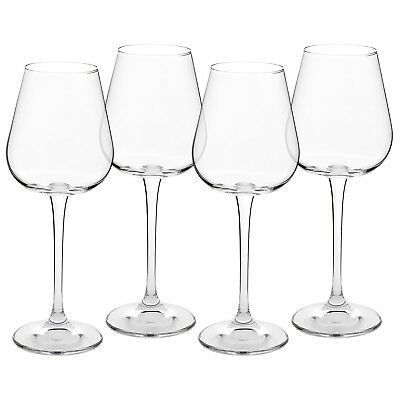 Crystal White Wine Glasses - Set of 4 - Lead-Free Glass