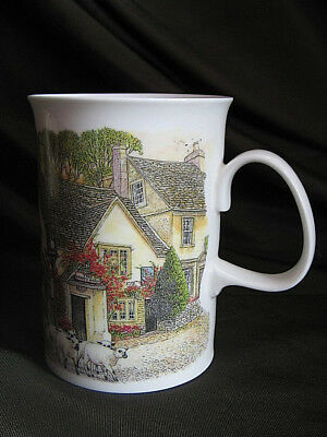 Dunoon bone china Country Inns mug by Richard Partis The White Hart Pub Unused