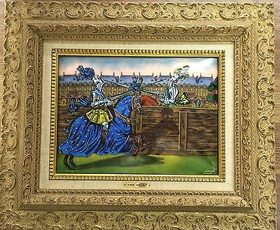 The Joust By BETOURNE LIMOGES JP LOUP Limited Edition French Enamel Copper