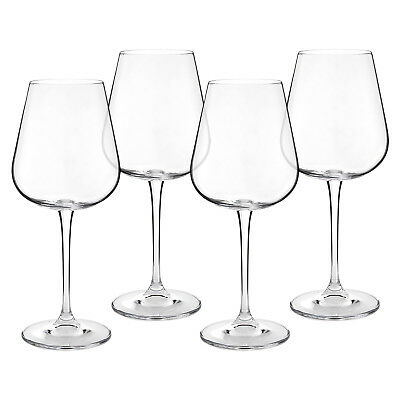 Crystal Red Wine Glasses - Set of 4 - Lead-Free Glass