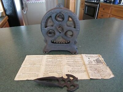 Antique Original 1911 New Era Rope Machine Complete With Manual And Tool & Works