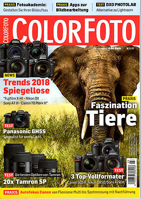 COLORFOTO 3/2018 -Trends 2018 Spiegellose,Tests:Tamron SP, 3 Top-Vollformat (03)