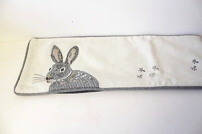 Henry & Friends Hare Bolster Long Lumber Cushion Cover Lumbar Rose Gold Thread