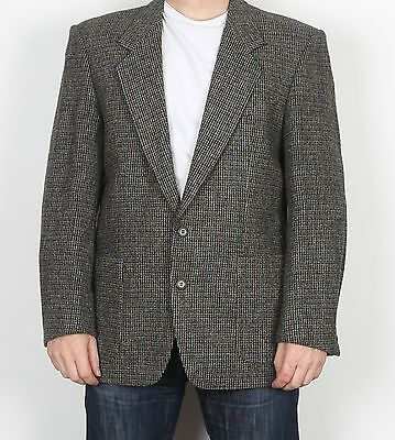 "Harris Tweed 42"" Medium Large  Jacket Blazer Brown   (H5D)"