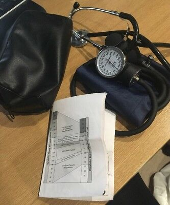 Manual Blood Pressure Cuff and Stethoscope Perfect Condition