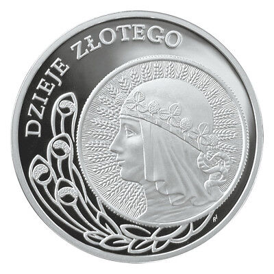 2006 - POLAND SILVER 10zl proof  - 2 zloty of 1932 issue Head of Woman