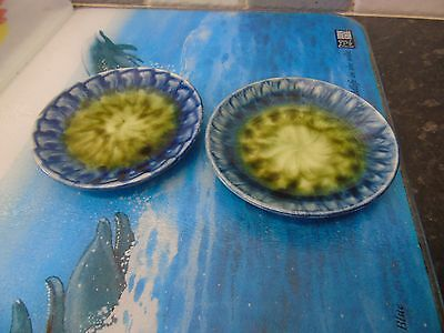 Welsh Portmadoc Studio  pottery  pin dishes x 2