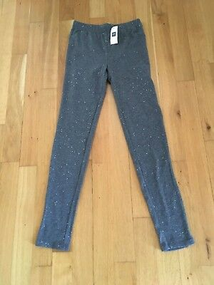 Gap Kids Girls Grey Sparkly Leggings - Brand New With Tag