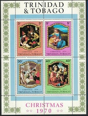Trinidad and Tobago Paintings Christmas MS issue 1970 SG#MS391