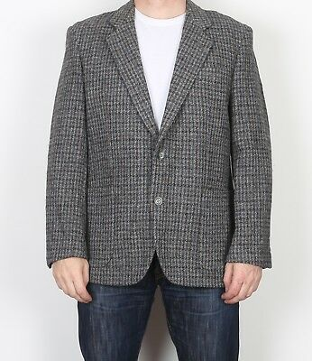 "Harris Tweed 42"" Medium Large  Jacket Blazer Grey    (9AG)"