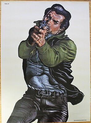 Vintage Police Law Enforcement Shooting Target Poster as seen on Drew Pritchard