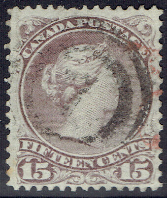 Canada #29 VF used stamp showing a nice early shade