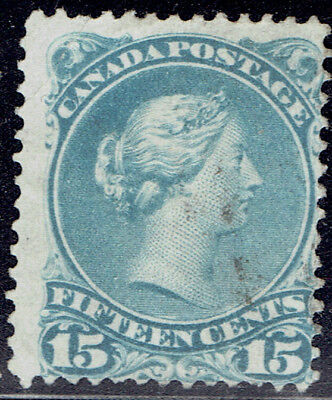Canada #30b used stamp showing a nice pale blue azure shade