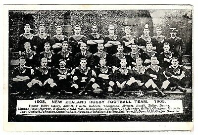 "Rugby Union New Zealand ""Originals"" All Blacks Postcard 1905 (Posted Matchday)"