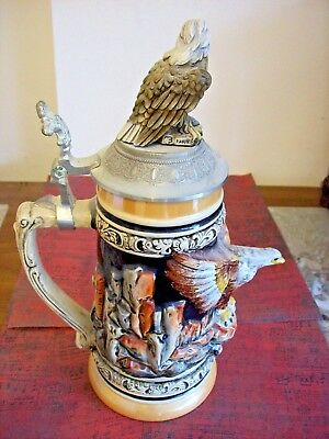 Handarbeit Bald Eagle Lidded Centennial Stein - Collectible #1084/5000