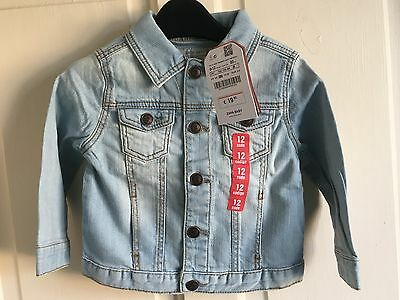 BNWT Zara Denim Jacket. Stonewash / Distressed. Boys. Size 3 - 24 Months.