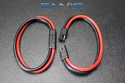 2) 8 Gauge Quick Disconnect 2 Pin 10'' Leads Polarized Wire Harness