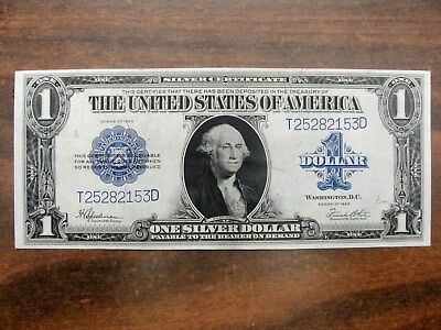 1923 $1 DOLLAR Silver Certificate Large Funny Back * High Grade ...