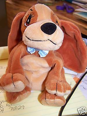 Disney Lady & The Tramp Promo Bean Bag Plush Lady Dog Stuffed Animal Puppy New