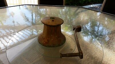 Vintage Deck winch very heavy brass/bronze working order beautiful patina