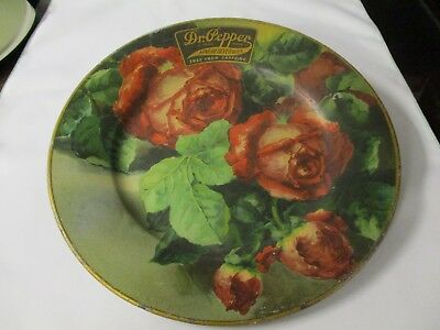 Dr Pepper Vienna Art Plate With Roses And King Of Beverages Logo