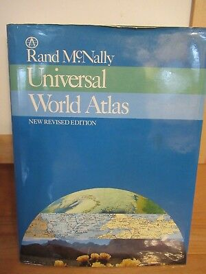 Rand McNally Universal World Atlas New Revised Ed. 1987 hard cover w/ dust cover